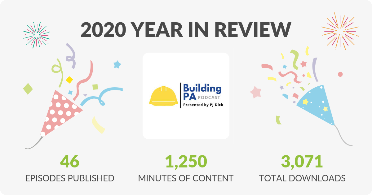 Building PA Podcast 2020 Year In Review